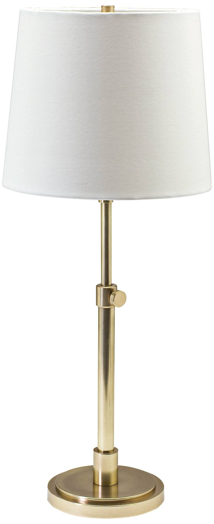 House of troy townhouse adjustable raw brass table lamp