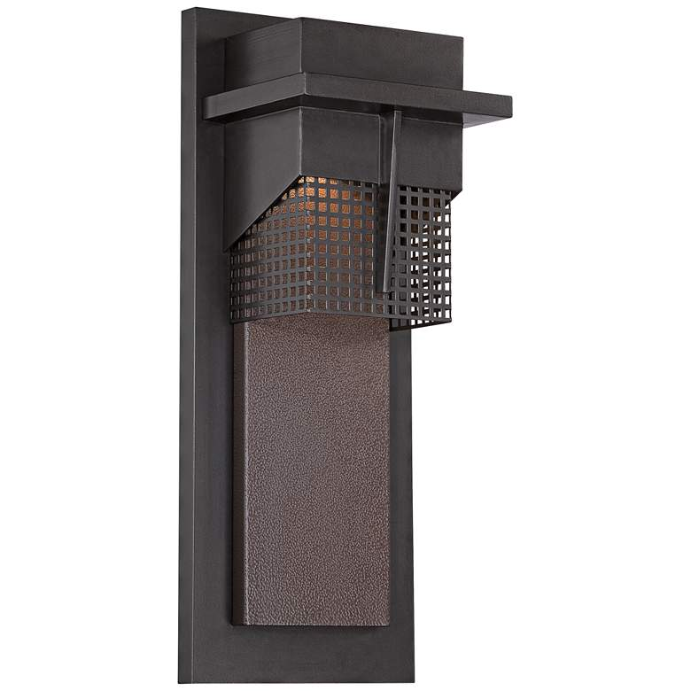 "Beacon 15 1/2""H LED Burnished Bronze Outdoor Wall"