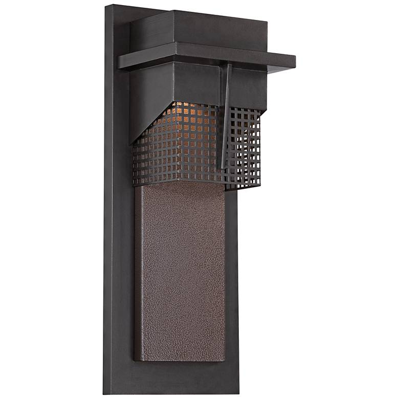 """Beacon 15 1/2""""H LED Burnished Bronze Outdoor Wall Light"""