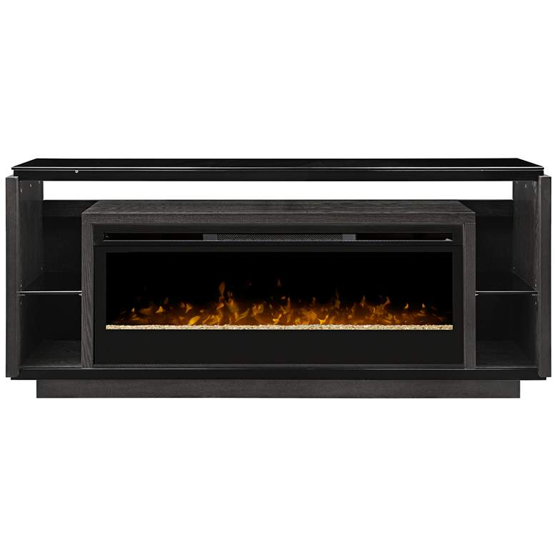 Smoke Gray Media Console Electric Firebox with Remote