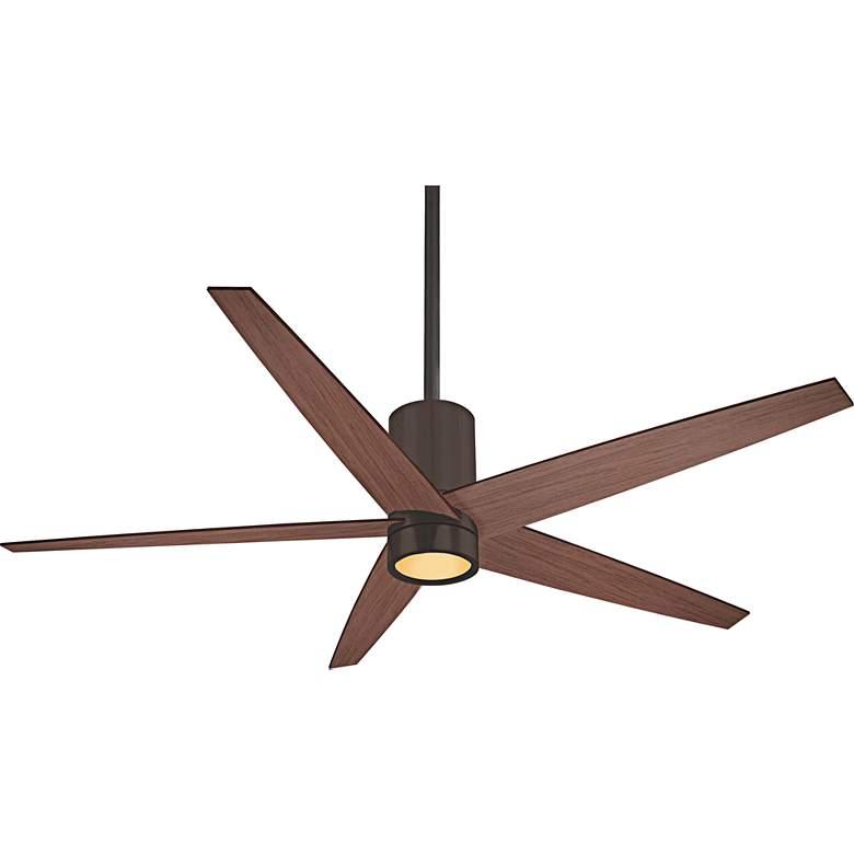 "56"" Minka Aire Symbio Maple - Bronze LED Ceiling Fan"