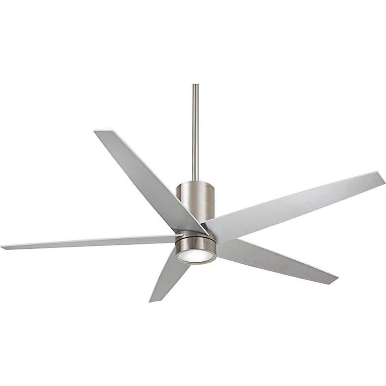 "56"" Minka Aire Symbio Silver - Nickel LED Ceiling Fan"