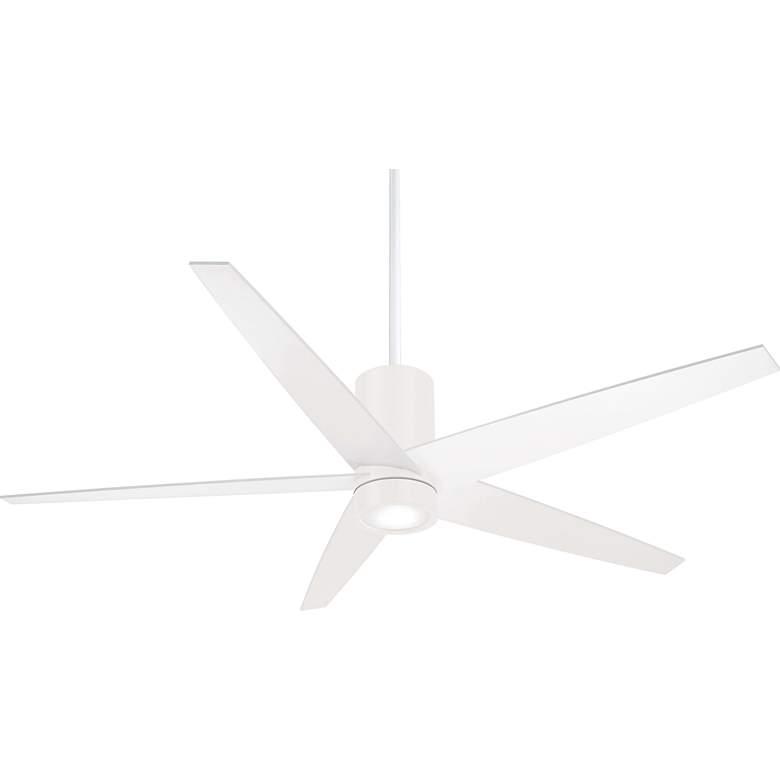 "56"" Minka Aire Symbio Flat White LED Ceiling Fan"