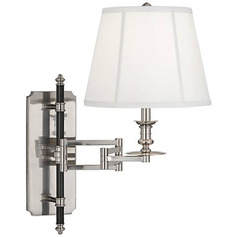 Lewis Antique Silver Swing Arm Wall Lamp