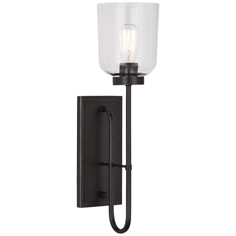 Tyrie Deep Patina Bronze Plug-In Wall Lamp