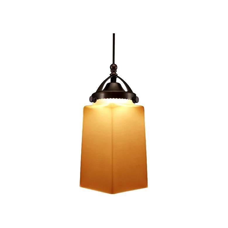 "WAC Huntington 3 1/4"" Wide LED Amber Glass Mini Pendant"