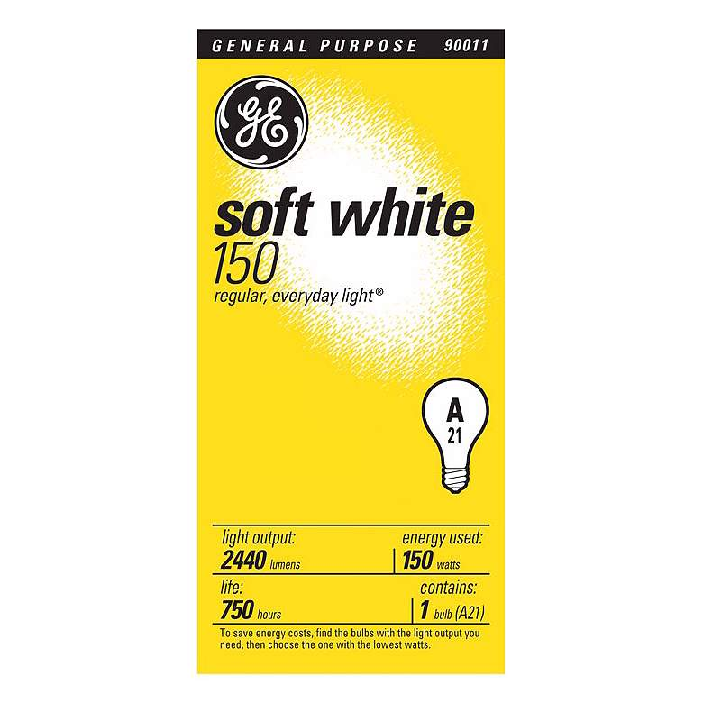 GE 150 Watt A21 Soft White Standard Bulb