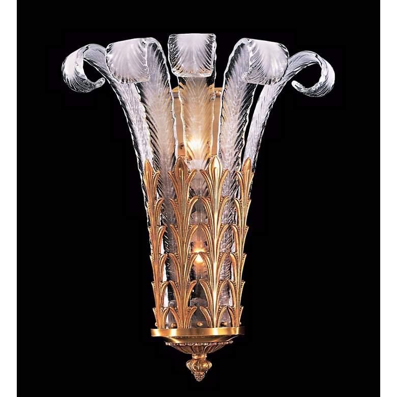 "Metropolitan 20 1/4""H Italian Murano Glass Feather Sconce"