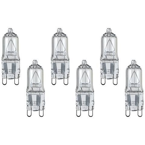 6-Pack Satco Clear 25 Watt 120 Volt G9 Halogen Light Bulbs