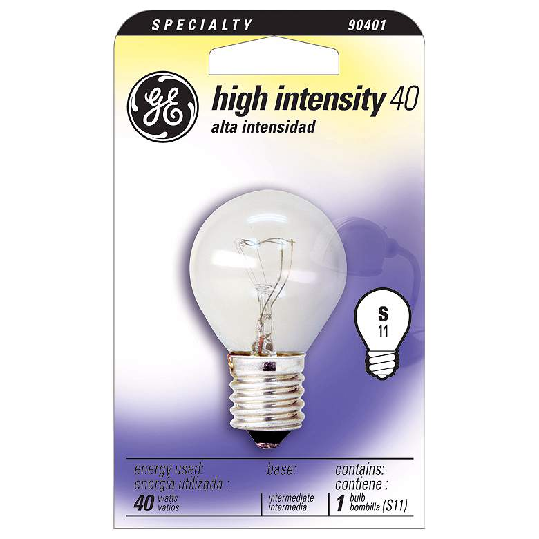 GE 40 Watt High Intensity Bulb