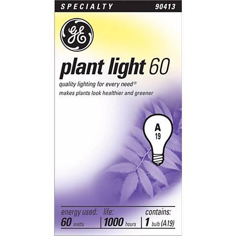 GE Plant Light Bulb - 60 Watts