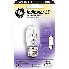 Ge 25 Watt T 7 Microwave Oven Light Bulb