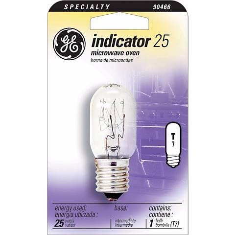 GE 25 Watt T-7 Microwave Oven Light Bulb