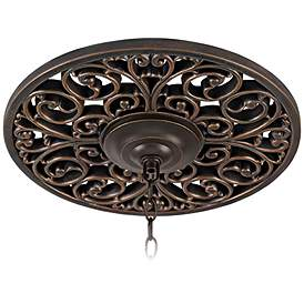 French Scroll 16 Wide Bronze Ceiling Medallion