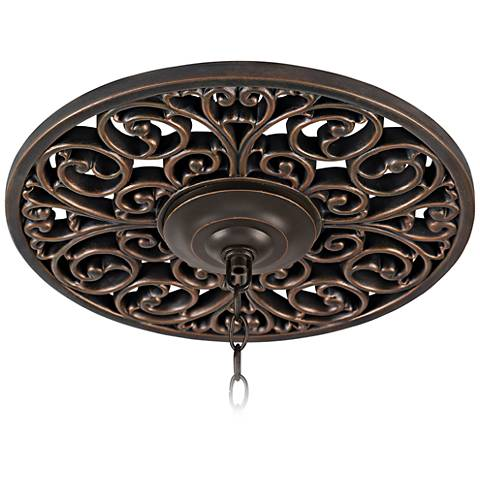 """French Scroll 16"""" Wide Bronze Ceiling Medallion"""