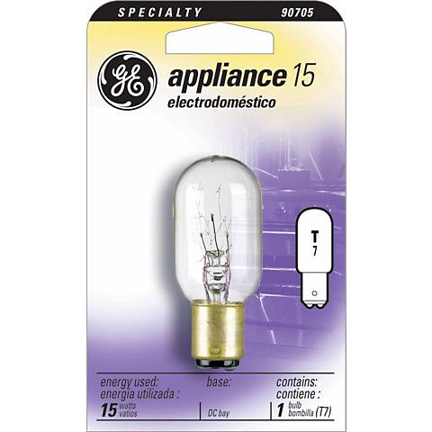 15 Watt T-7 Double Contact Appliance Clear Light Bulb