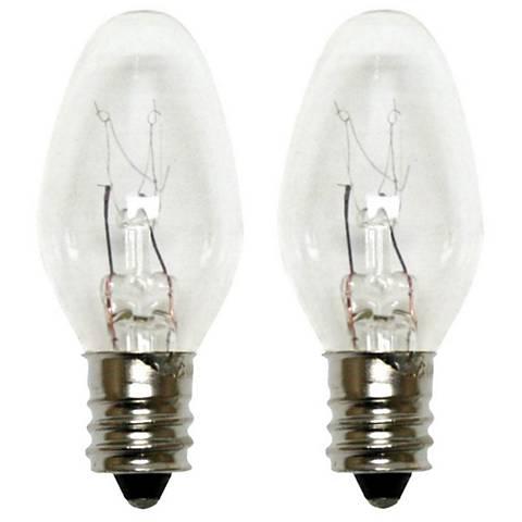 GE 4 Watt Clear Night Light Bulbs