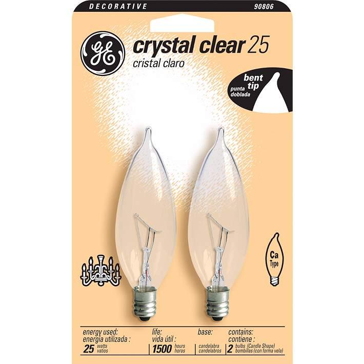 6 Ge Crystal Clear 40 Watt Bent Tip