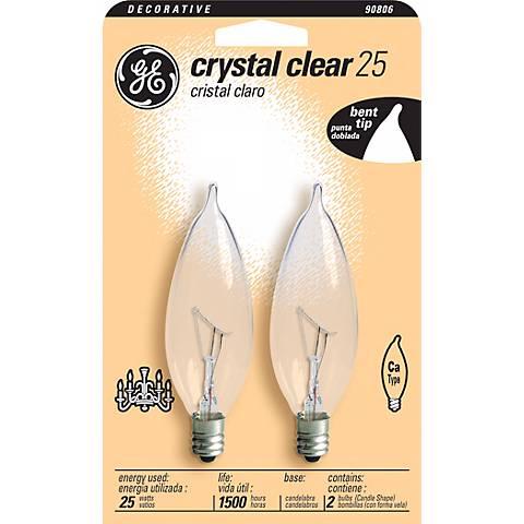 GE 25 Watt 2-Pack Candelabra Base GE Light Bulbs