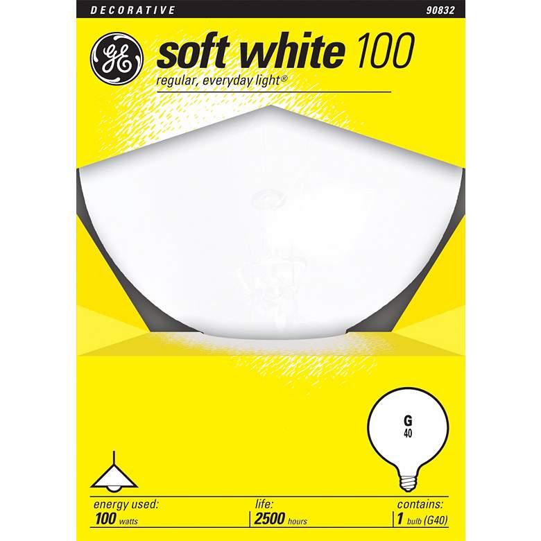 GE 100 Watt Medium Base White Globe Light