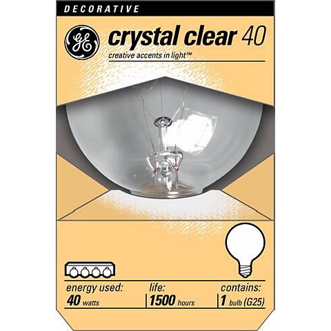 GE 40 Watt G25 Clear Base Decorative Light Bulb