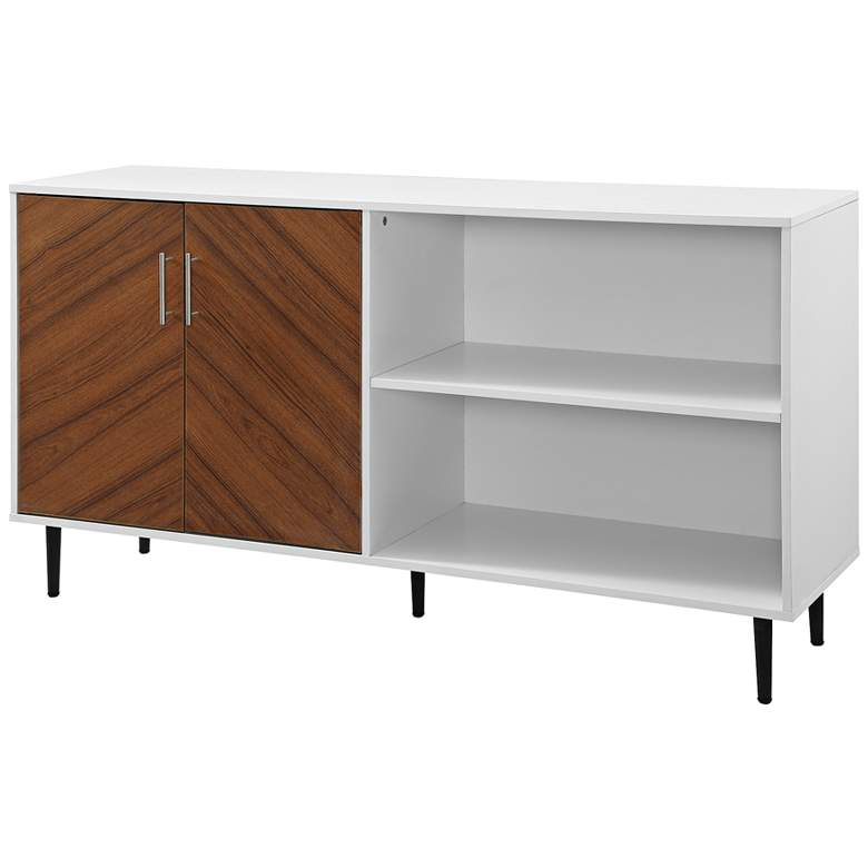 "Parker 58"" Wide Solid White 2-Door Wood TV Stand"