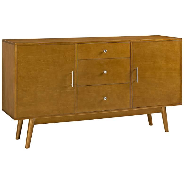 """Brynn 60"""" Wide Acorn Wood 2-Door TV Stand"""