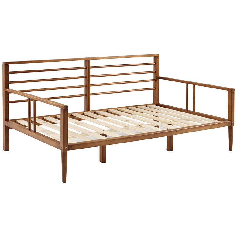 Bradley Caramel Solid Pine Wood Spindle Daybed