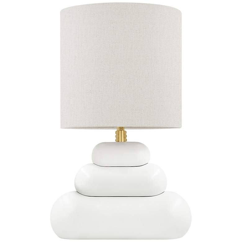 Hudson Valley Palisade Cream-Colored Accent Table Lamp