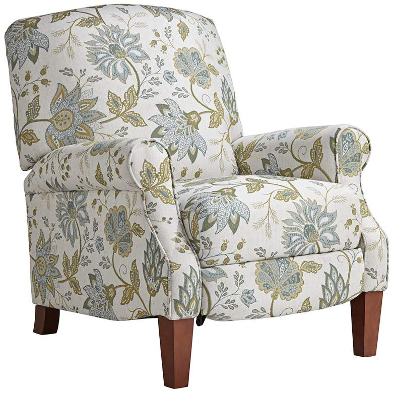 Peacock Upholstered Fabric 3-Way Recliner Chair