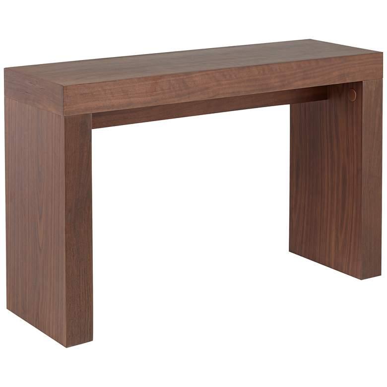 "Dorian 47"" Wide Walnut Rectangular Sofa Console Table"