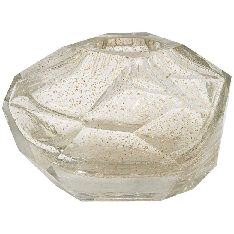 "Ashendon 6 3/4"" Wide Smoke Transparent Glass Decorative Vase"