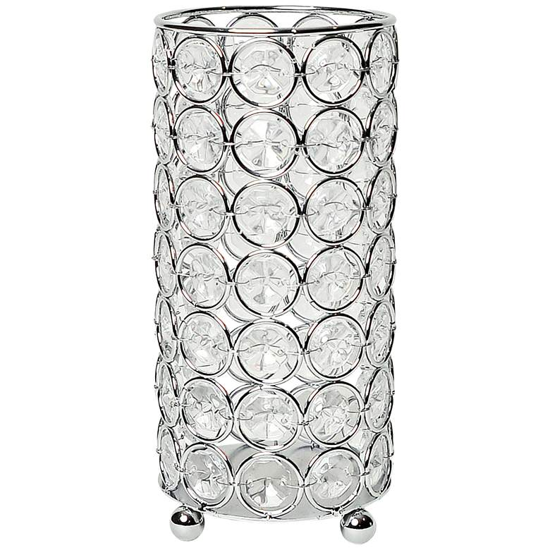 "Elegant Designs Elipse 6 3/4"" High Chrome Decorative Vase"