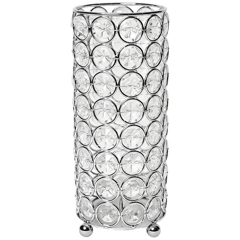 "Elegant Designs Elipse 7 3/4"" High Chrome Decorative Vase"