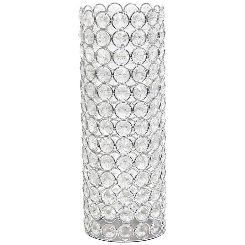 "Elegant Designs Elipse 11 1/4"" High Chrome Decorative Vase"
