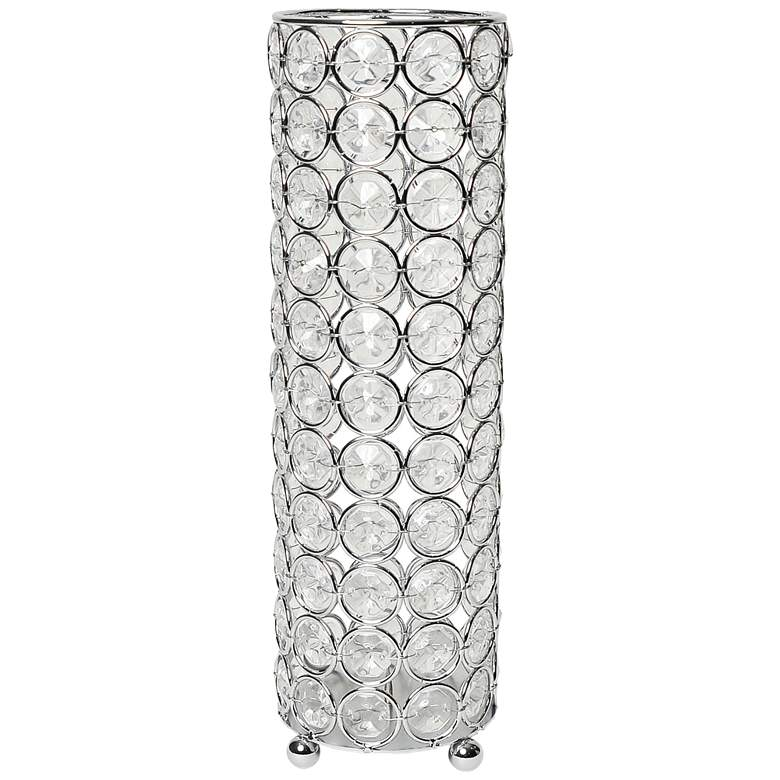 "Elegant Designs Elipse 10 1/4"" High Chrome Decorative Vase"