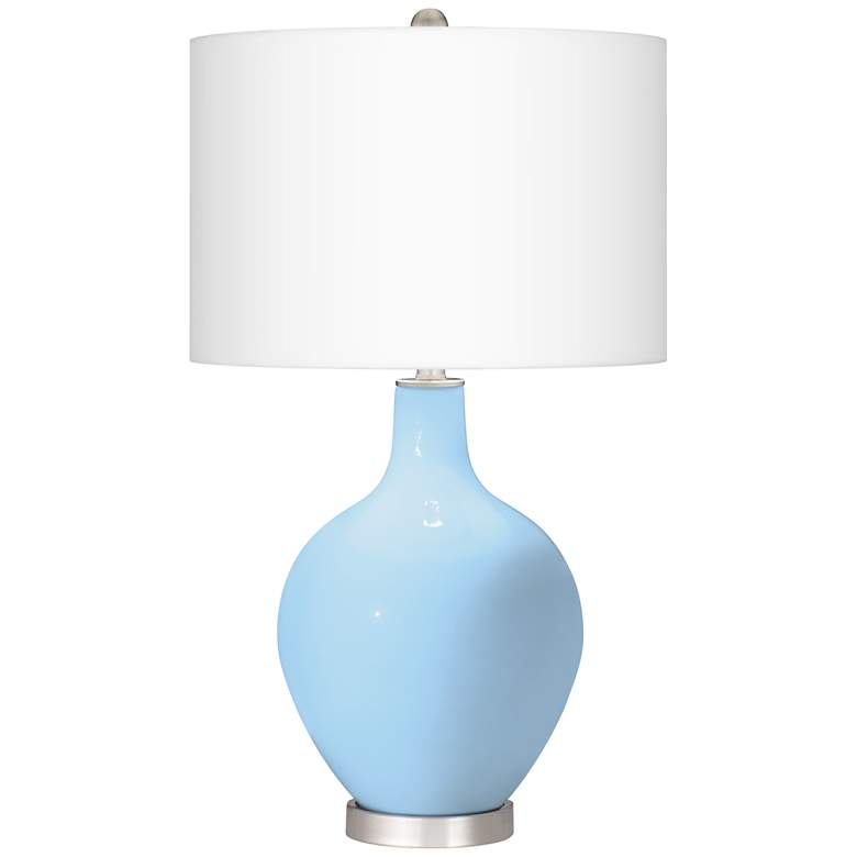 Wild Blue Yonder Ovo Table Lamp from Color Plus