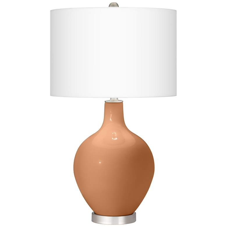 Burnt Almond Ovo Table Lamp from Color Plus