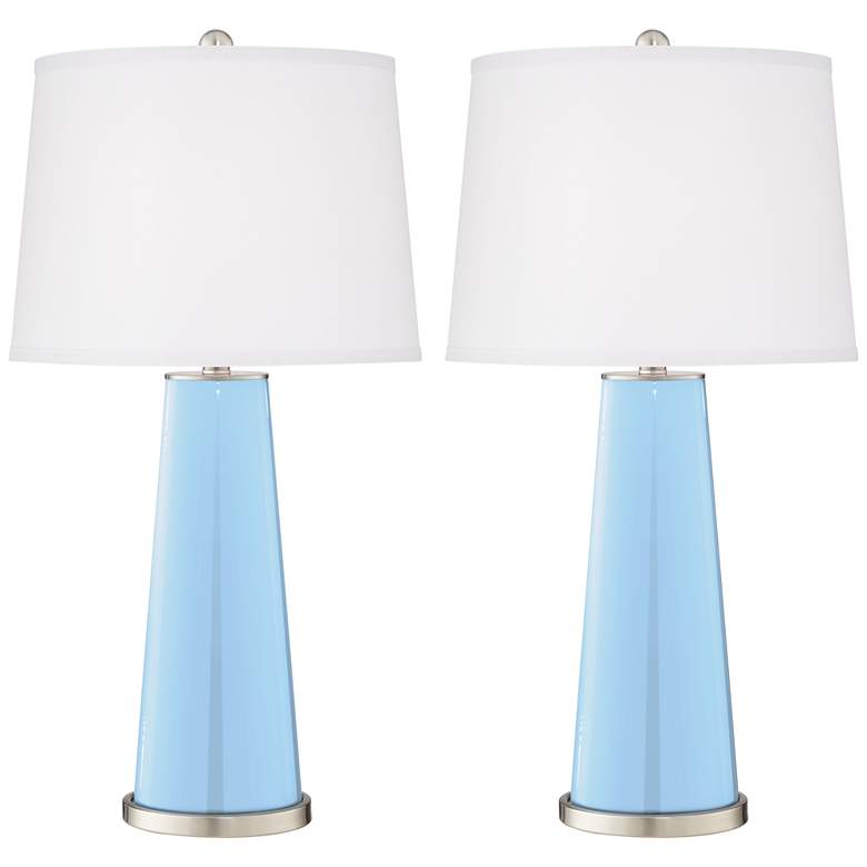 Wild Blue Yonder Leo Table Lamps Set of 2 from Color Plus