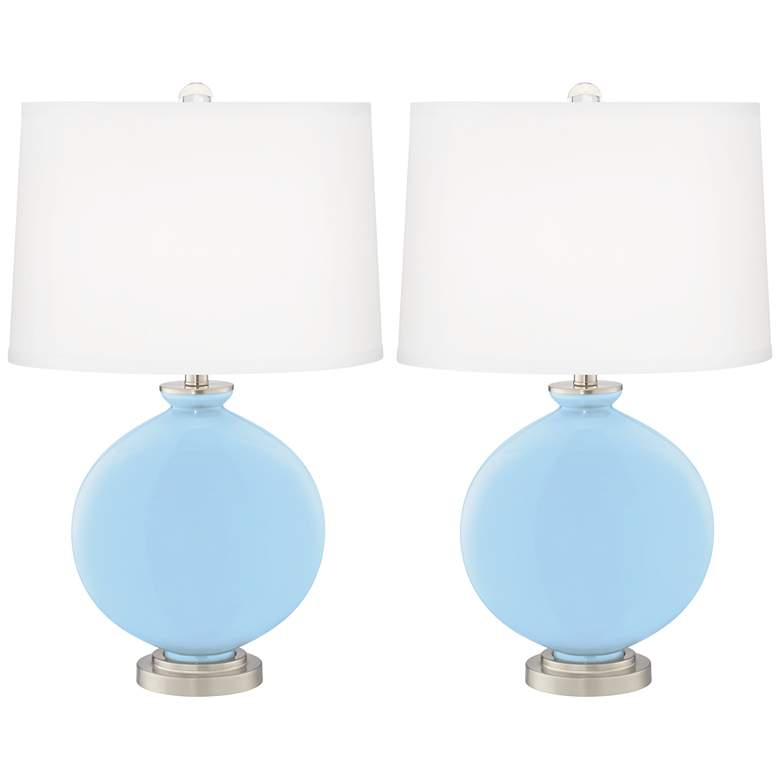 Wild Blue Yonder Carrie Table Lamps Set of 2 from Color Plus