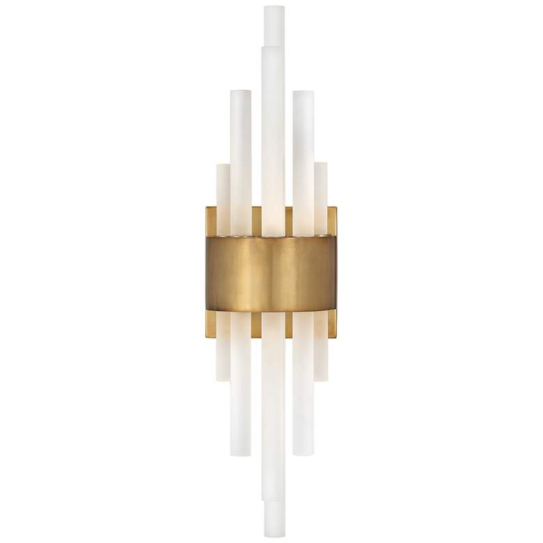 "Hinkley Trinity 22"" High Heritage Brass LED Wall Sconce"