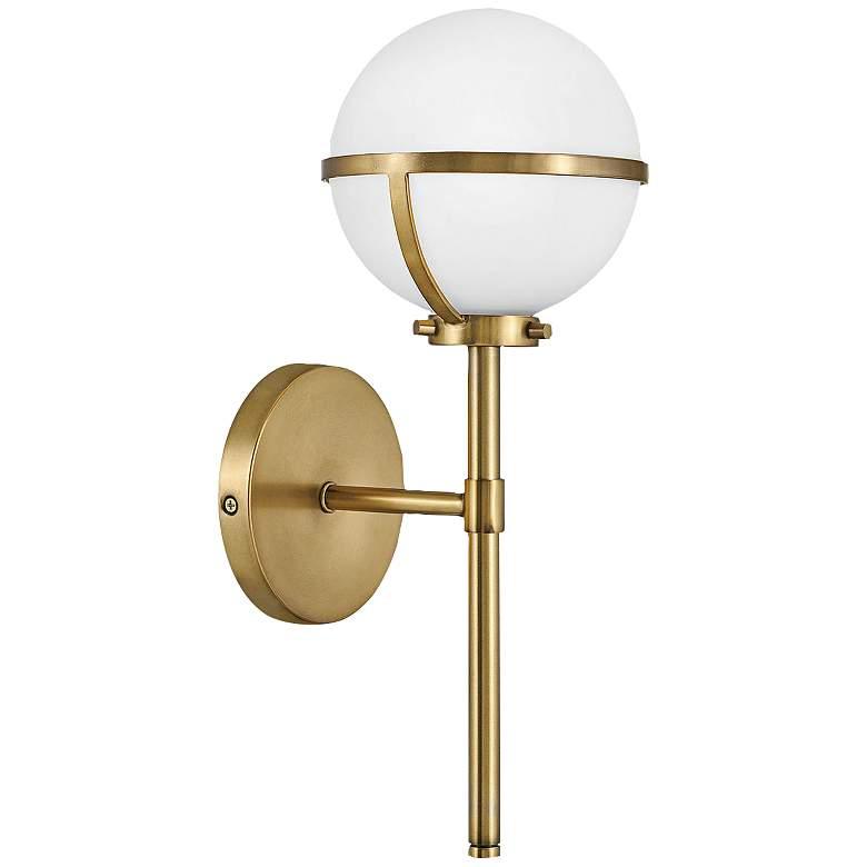 """Hinkley Hollis 16"""" High Heritage Brass LED Wall Sconce"""