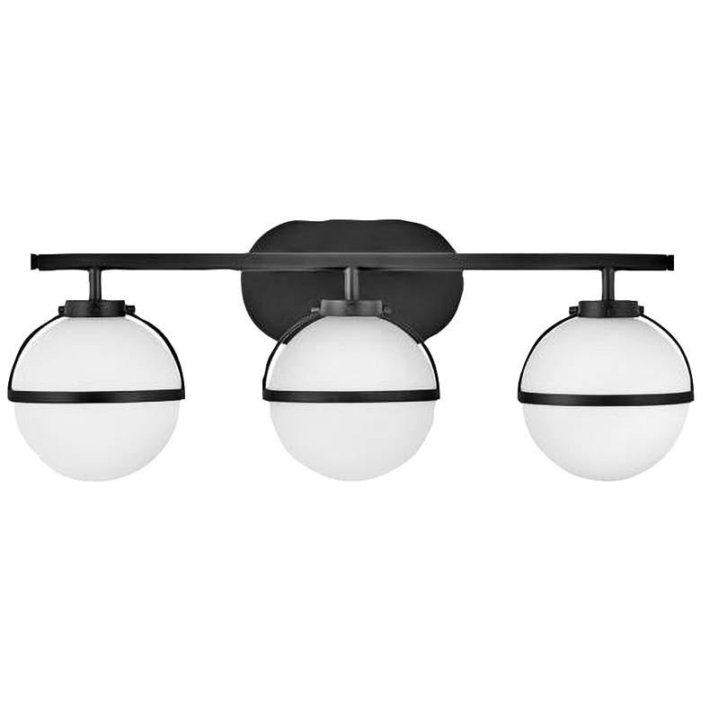 "Hinkley Hollis 24"" Wide Black 3-Light LED Bath Light"