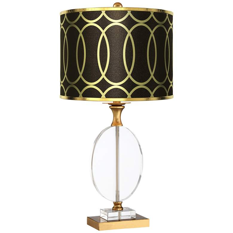 Valerie Gold Metallic Shade Crystal Table Lamp