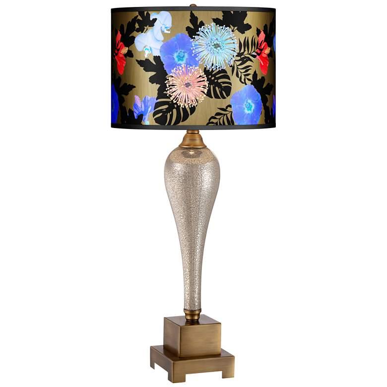 Gigi Midnight Garden Gold Shade Mercury Glass Table Lamp