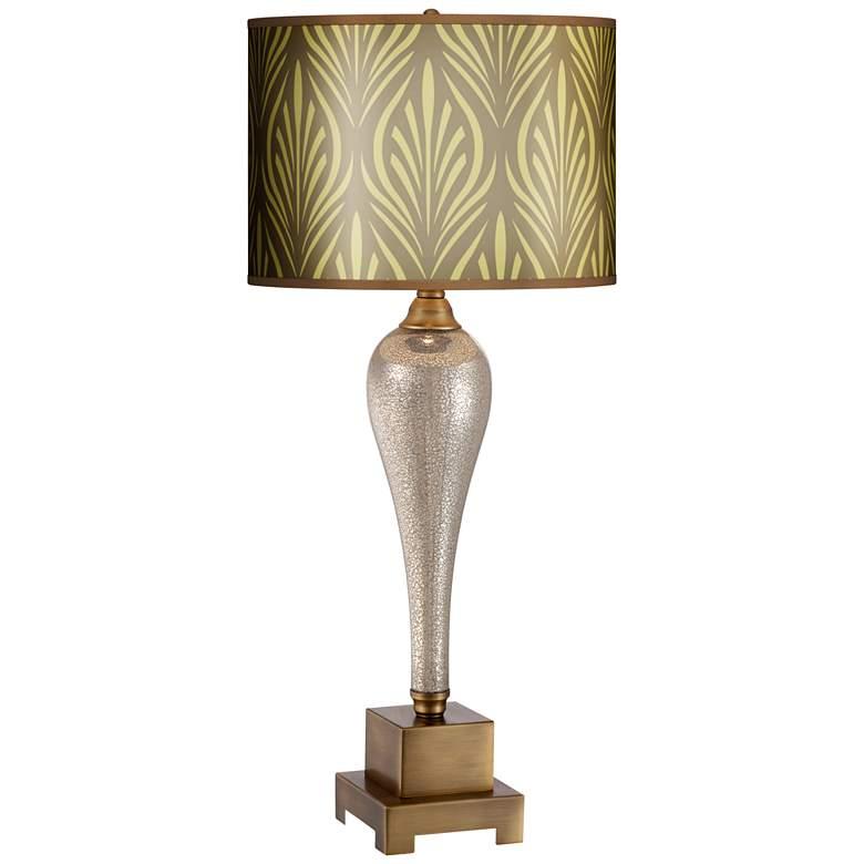 Gigi Calathea Giclee Shade Mercury Glass Table Lamp