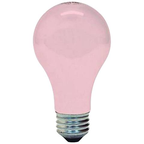 GE 2-Pack 60 Watt Soft Pink Light Bulb