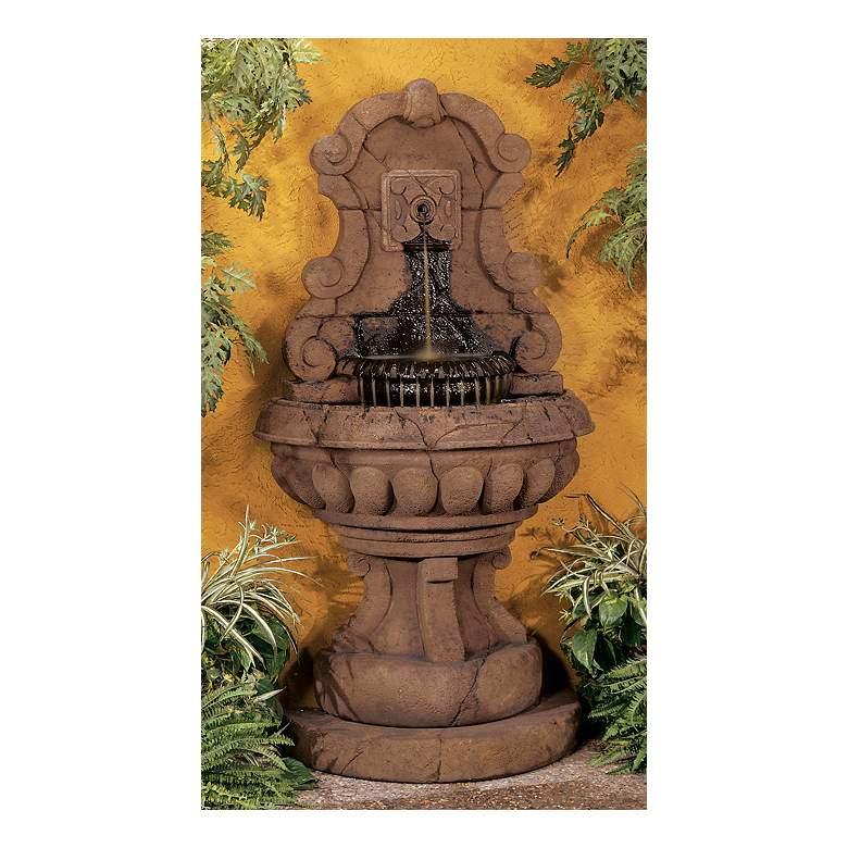 "Europa Murabella Scroll 66""H Relic Barro Outdoor Fountain"