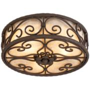 Close to ceiling light collections with matching coordinated style natural mica collection 12 wide ceiling light fixture aloadofball Choice Image