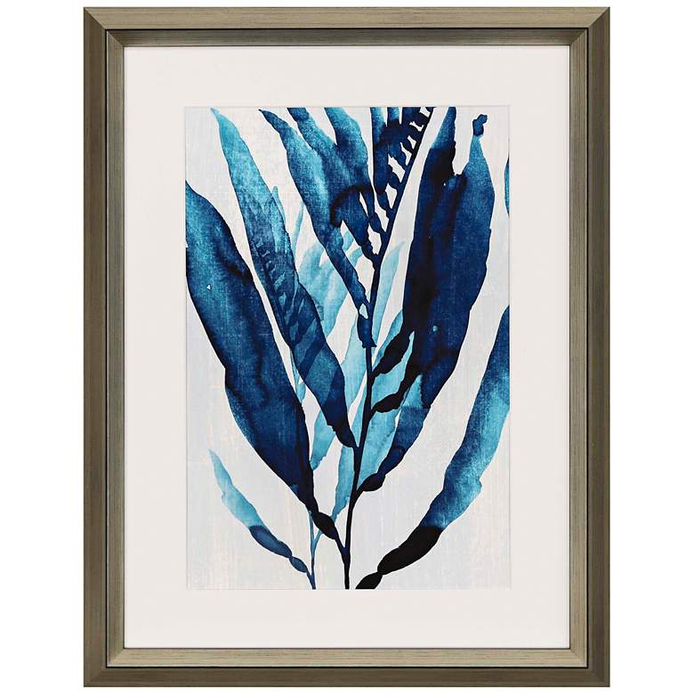 "Blue Drift I 42"" High Framed Giclee Wall Art"